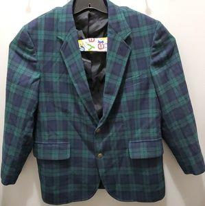 Pendleton Wool Mills Green Plaid Dress Jacket 46